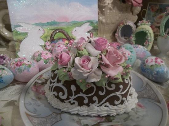 (Chocolate Scrolls) Funky Junk Fake Cake