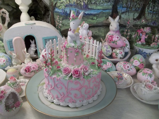 (Easter Love To You) Funky Junk Fake Cake