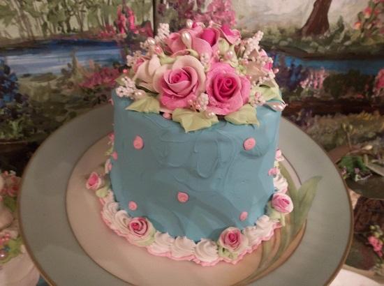 (Tiffany Blue) Funky Junk Fake Cake