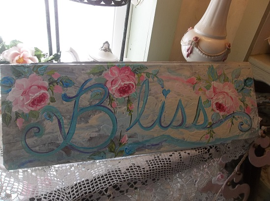 (Bliss In Pastels) Handpainted Sign