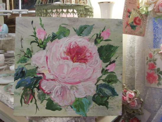 (Mega Sized Rose)  Handpainted Sign