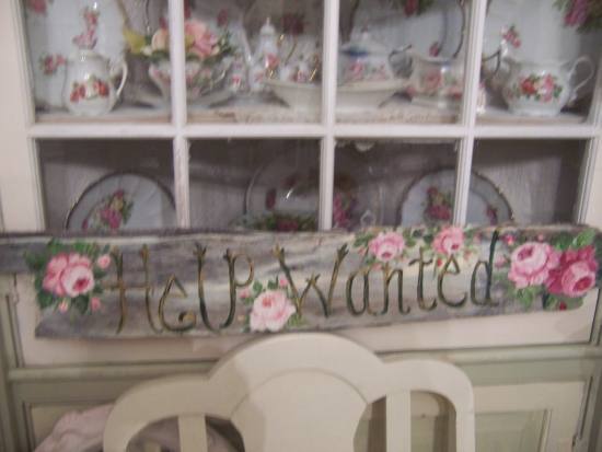 "(helpwanted) Handpainted ""Help Wanted"" Sign"