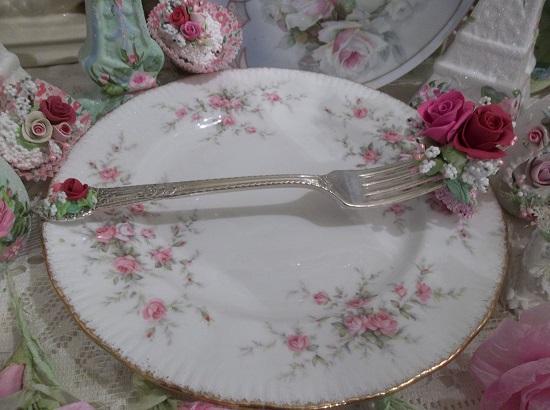 (Christina) Vintage Fork, Bite Of Fake Cake