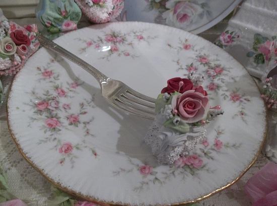 (Valentina) Vintage Fork, Bite Of Fake Cake