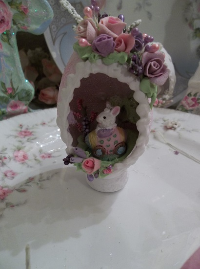 (Elaine) Decorated Panoramic Easter Egg