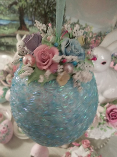 (Easter Morning) Decorated Hanging Foam Egg