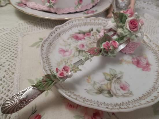 (Alice Mae) Vintage Fork, Bite Of Fake Cake