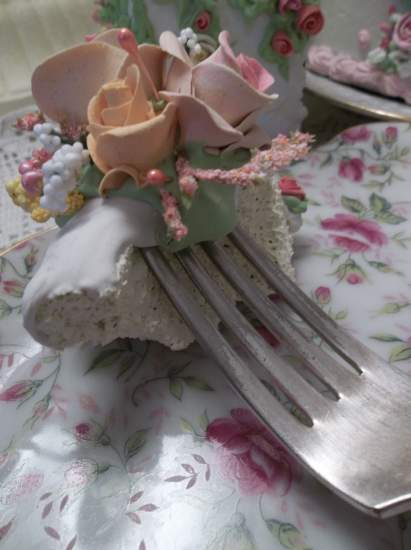 (Maryanne) Vintage Fork, Bite Of Fake Cake