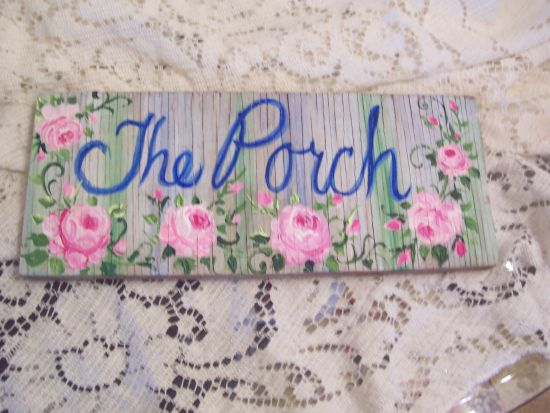 (The Porch Plywd) Handpainted Sign