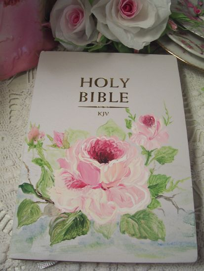 (Bella Bible) Handpainted KJV Bible