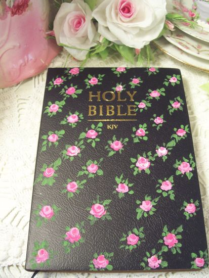 (Old Victorian Bible) Handpainted KJV Bible