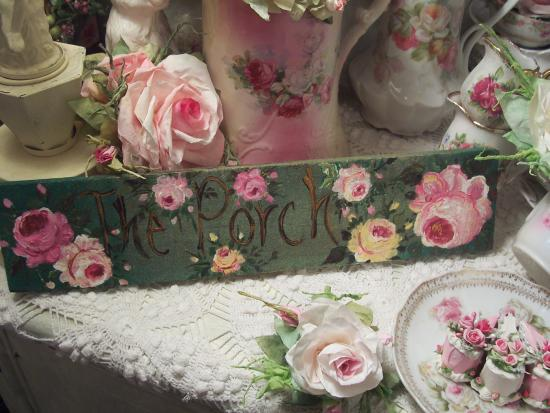 (2 the porch) HANDPAINTED ROSES SIGN
