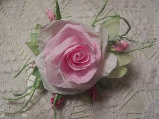 (Ella Rosabell)  Paper Rose Clip