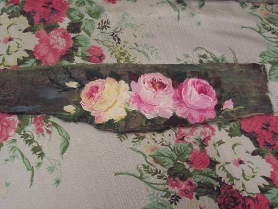 (Rotten wood n roses) Handpainted  roses sign shabby wooden art