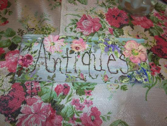(Antiques101) Handpainted Sign
