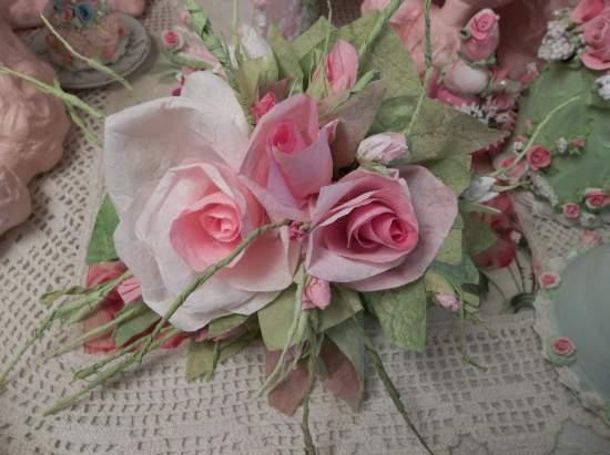 (Trianna) Handmade Paper Rose Clip