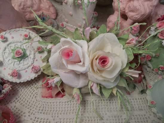 (Clear Skies) Handmade Paper Rose Clip