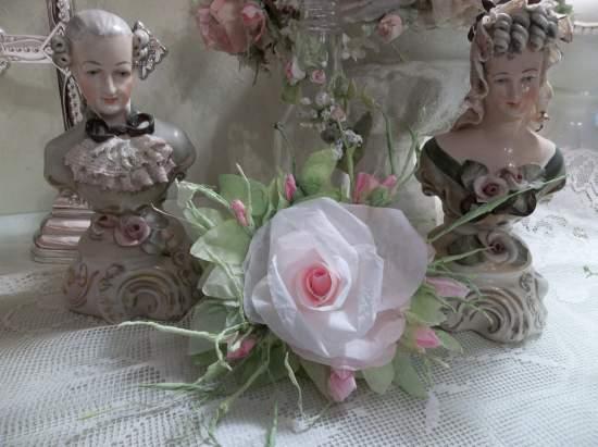 (Lark) Handmade Paper Rose Clip