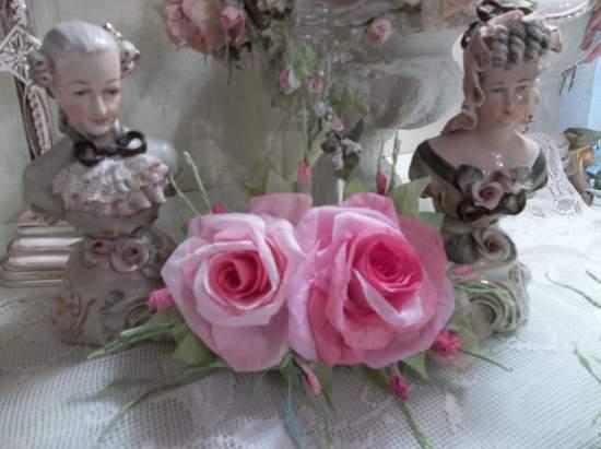 (Luanna) Handmade Paper Rose Clip
