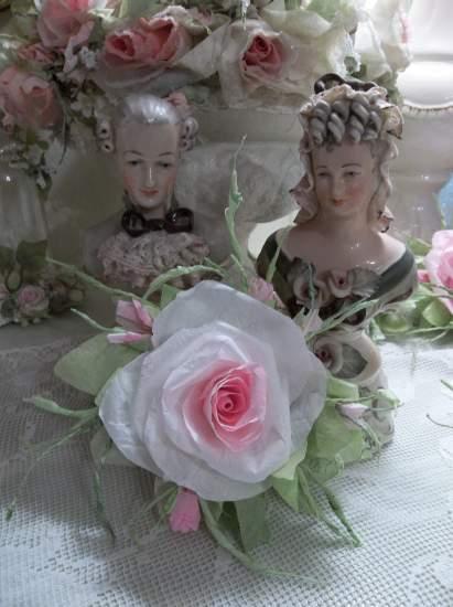 (Celestina) Handmade Paper Rose Clip