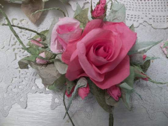 (Chloe) Handmade Paper Rose Clip