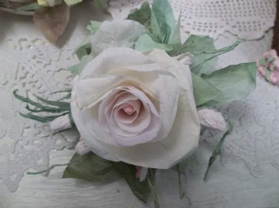 (Lynda) Handmade Paper Rose Clip