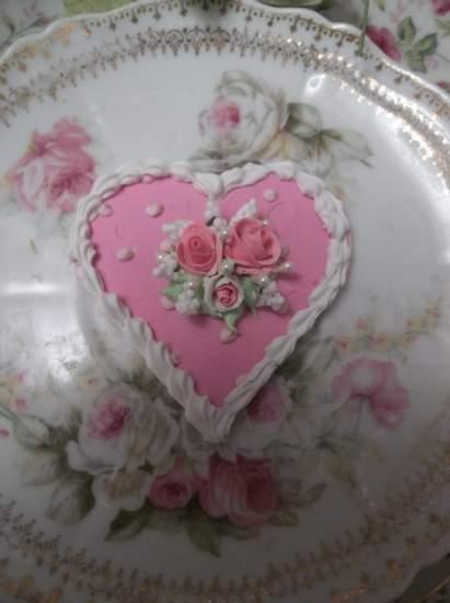 (Polka Dottie Heart) Fake Cookie