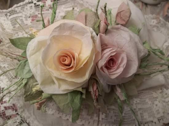 (Sweet Dreams Beautiful) Handmade Paper Rose Clip