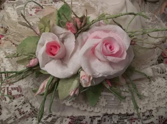 (Bliss) Handmade Paper Rose Clip