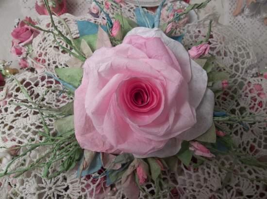 (Maureen Rose) Handmade Paper Rose Clip