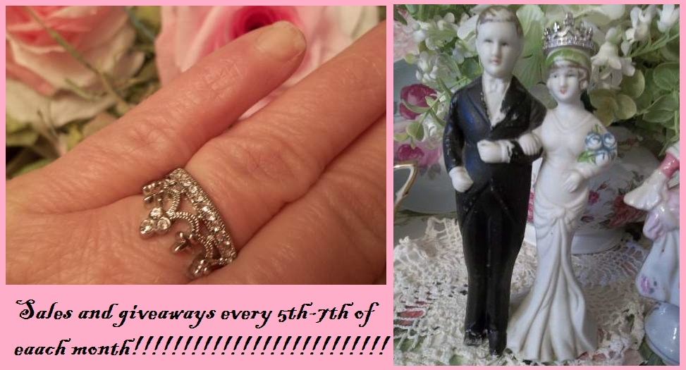 (Size 8 Crown Ring) Doll house sized  tiara , crown ,classic,royal  crown ring !