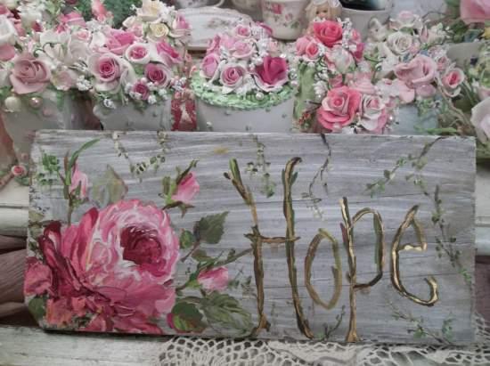 (Rose Hope) Handpainted Sign