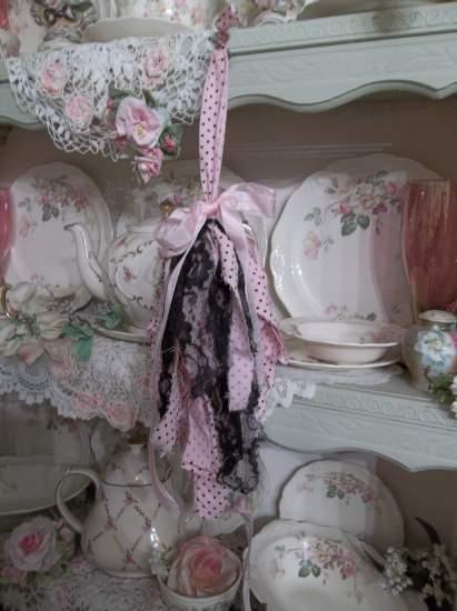 (Lacy Dot) Shabby Fabric Tassels, ,Shabby Chic, Boho