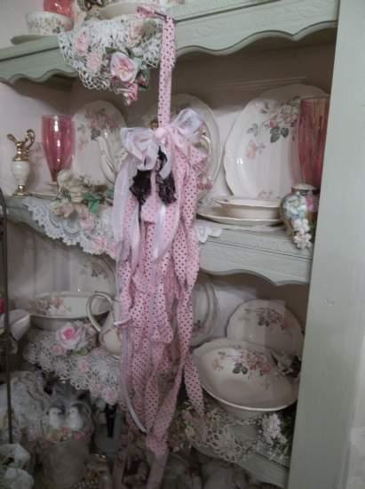 (Long Dottie) Shabby Fabric Tassels, ,Shabby Chic, Boho