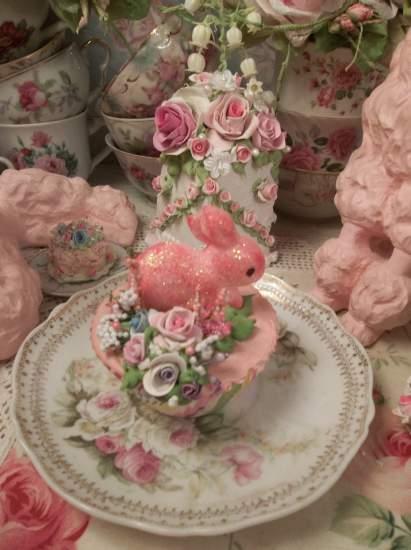 (Raspberry Rabbit) Fake Cupcake