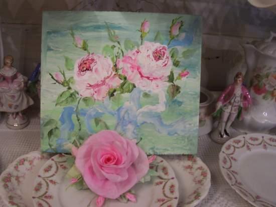 (Paper Queen) Handmade Paper Rose Clip