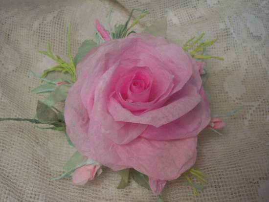 (Rose Mirage) Handmade Paper Rose Clip