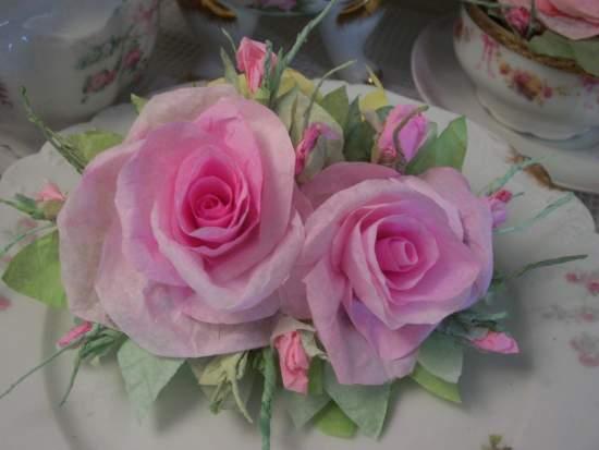(Maotta) Handmade Paper Rose Clip