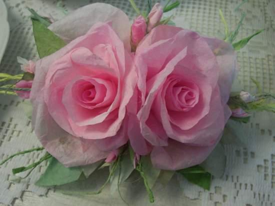 (Sharrona) Handmade Paper Rose Clip