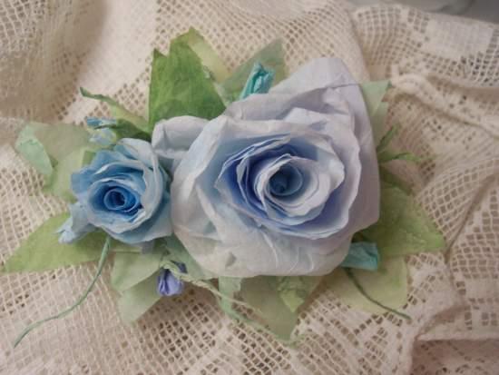 (Starla) Handmade Paper Rose Clip