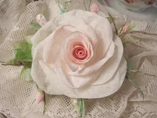 (Sharla) Handmade Paper Rose Clip