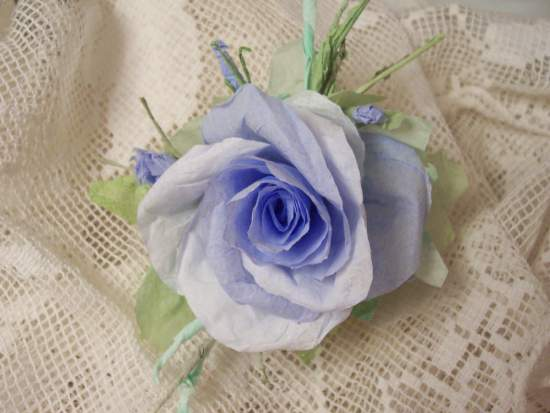 (Kimberly) Handmade Paper Rose Clip