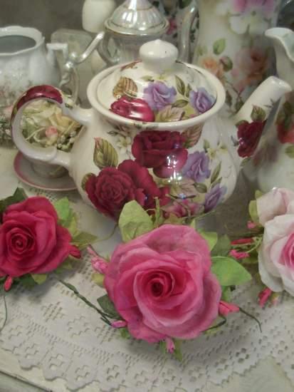 (Kathy) Handmade Paper Rose Clip