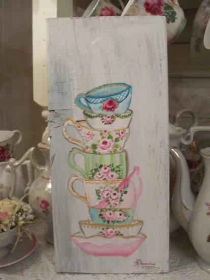 (Tower Of Tea) Handpainted Sign