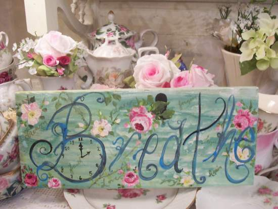 (Breathe) Handpainted Sign