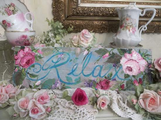 (Relax) Handpainted Sign