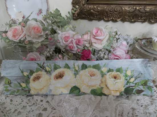 (Yellow Roses Of Texas) Handpainted Sign