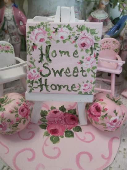 (Home sweet home) miniature dollhouse decor