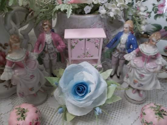 (Sky Blue) Handmade Paper Rose Clip