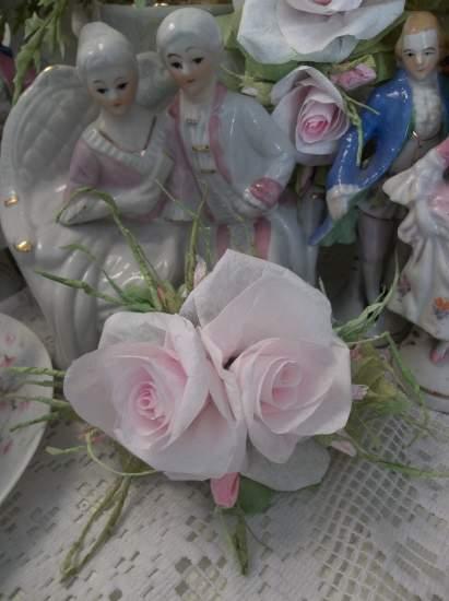 (Misty) Handmade Paper Rose Clip